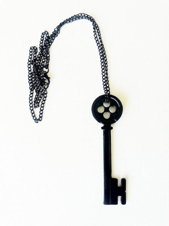 Coraline Skeleton Key Necklace Etsy