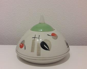 """Vintage Porcelain Sugar Bowl from Teaset """"Sakta"""", Soviet, USSR, Riga Porcelain Factory, RPF , 1960's"""