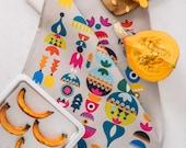 Nordic Tea Towel, Kitchen Tea Towel, Scandinavian Tea Towel, Kitchen Dish Towel, Hostess Gift, Housewarming Gift