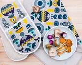 Scandinavian Kitchen Gift Set / Tea Towel /Oven Glove/ Nordic Kitchen Essentials / Perfect New Home Gift/ Easter Gift / Scandi Print Towel