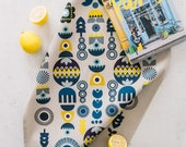 Kitchen Tea Towel - Scandinavian Tea Towel - Kitchen Dish Towel- Nordic Tea Towel - Housewarming Hostess Gift