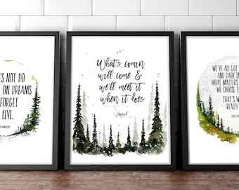 Image of: Quotations Harry Potter Art Harry Potter Quote Jk Rowling Quote Harry Potter Image Harry Potter Harry Potter Wall Art Watercolor Forest Gift Etsy Harry Potter Quote Etsy