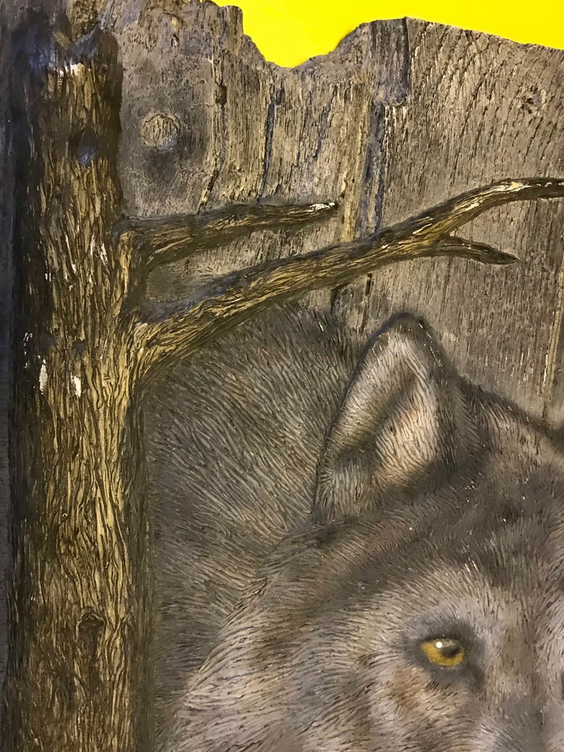Northern Expressions by Dano The Hunter Wolf Wooden Wall Plaque Artwork