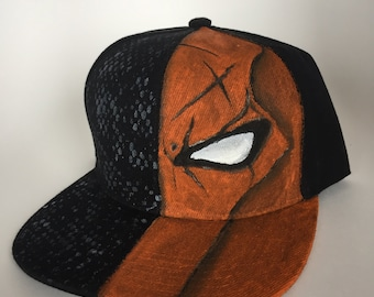 Death Stroke Snapback | Hand Painted | DC Comics Inspired | Cosplay | Acrylic Paint