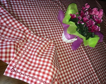 Tablecloth Tablecloth Happy Red