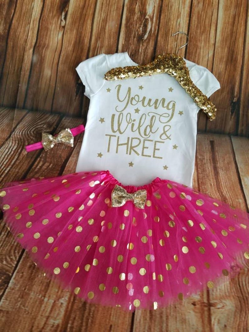 385bb97f7 Young wild and three 3rd birthday shirt 3rd birthday outfit