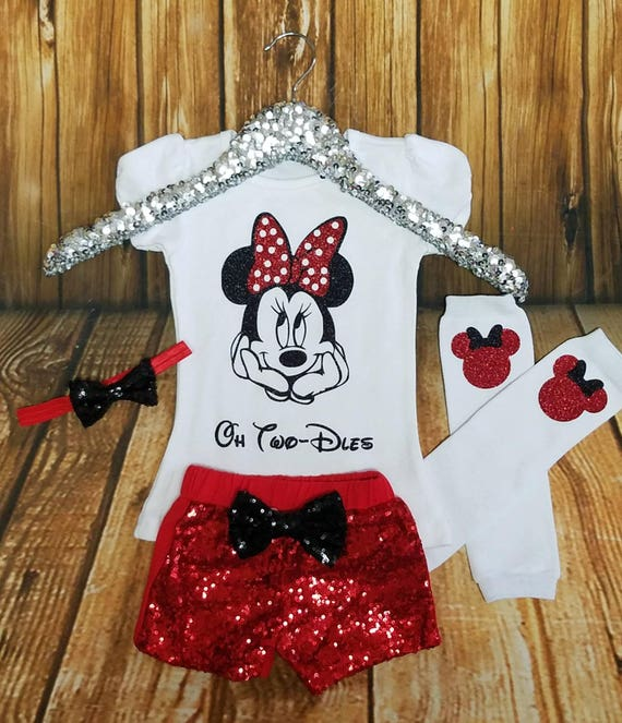 Minnie Mouse Birthday Outfit TWO Birthday Outfit 2nd