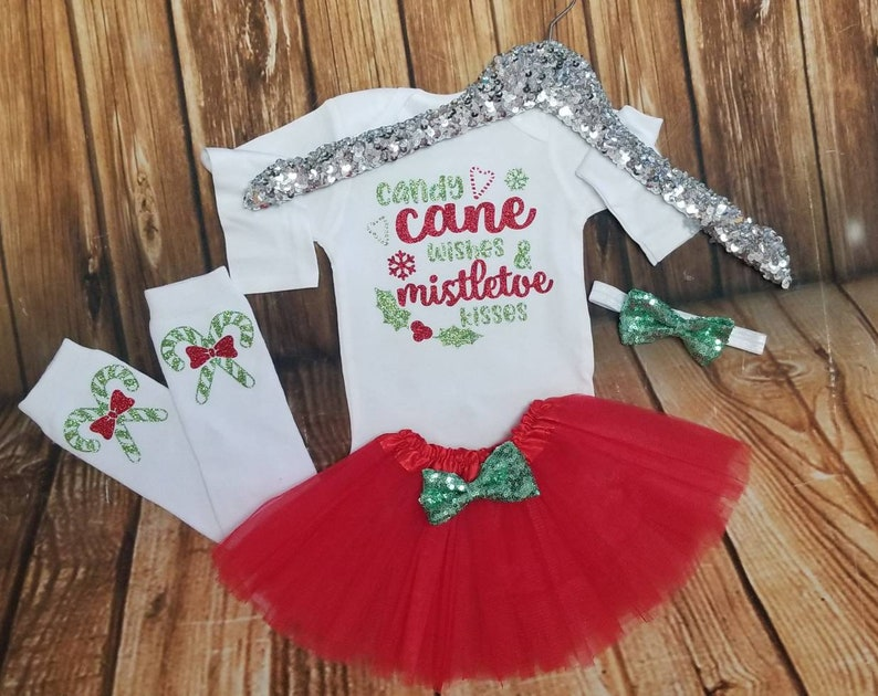 Minnie Mouse Christmas Onesie Bodysuit Shirt Candy Canes