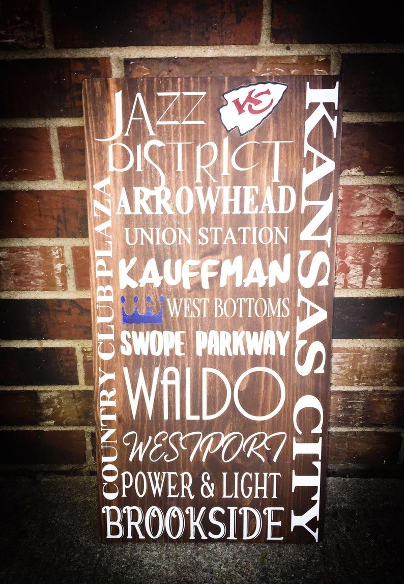 0dd6e9f9 Kansas City subway art sign | KC man cave signs | Kauffman | Arrowhead |  Union Station | Brookside | Westport | KC Chiefs