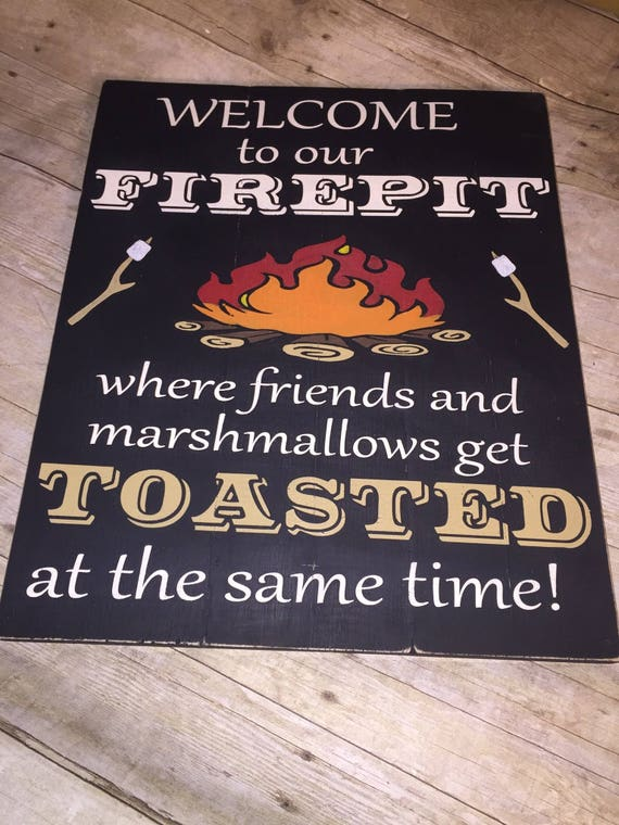 image 0 - Fathers Day Gift Welcome To Our Firepit Where Friends And Etsy