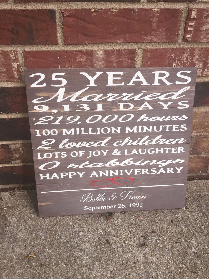 Signe Danniversaire 25 Ans Joyeux Anniversaire Anniversaire De Mariage Heures Minutes Jours Signe Danniversaire Drôle Cadeaux