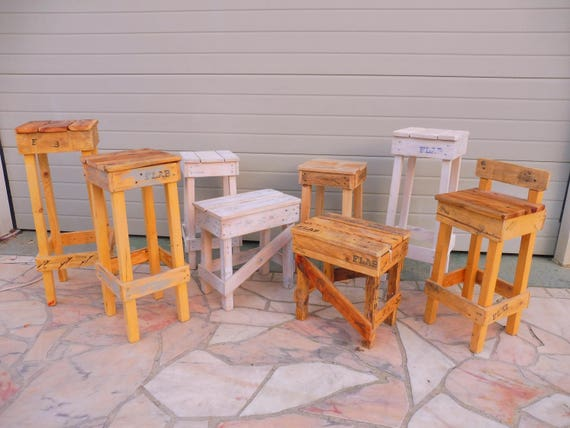 Sgabello Con Pallet : High stool pallets sgabello alto pallets by flab