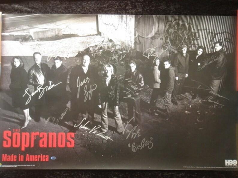 THE SOPRANOS CAST signed photo poster x12 autographs 24
