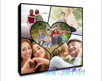 7e31c8bba13 Canvas heart shape collage heart collage personlised photo