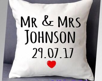 Mr & Mrs, wedding cushion,  cushion cover, wedding gift, anniversary gift, Mr Mr, Mrs Mrs,