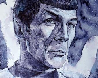 Spock Portrait- Leonard Nimoy Tribute