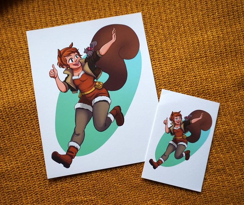 Squirrel Girl and Tippy-Toe  Medium Print
