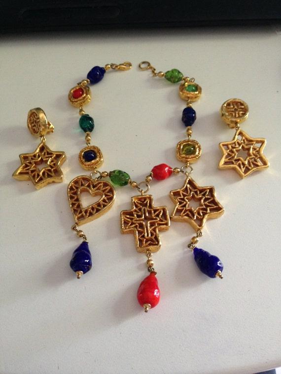 Christian Lacroix vintage necklace & earrings