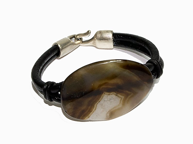 Agate Bracelet Big pendant Big Stone bracelet Women Bracelet Summer ElegantAvant garde Bracelet