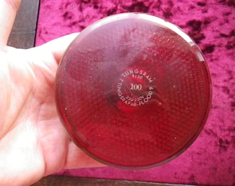 tungsram flood 9 Light Safe Darkroom Bulb - Red / USED - vintage