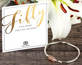 50th Gift For Friend Daughter Birthday Present Bracelet Ideas Jewellery Her