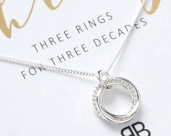 30th Necklace Birthday Gift Silver For Her Daughter Friend Jewellery 30