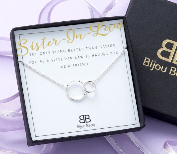 Sister In Law Gift Sister In Law Necklace Sister In Law Gift Etsy