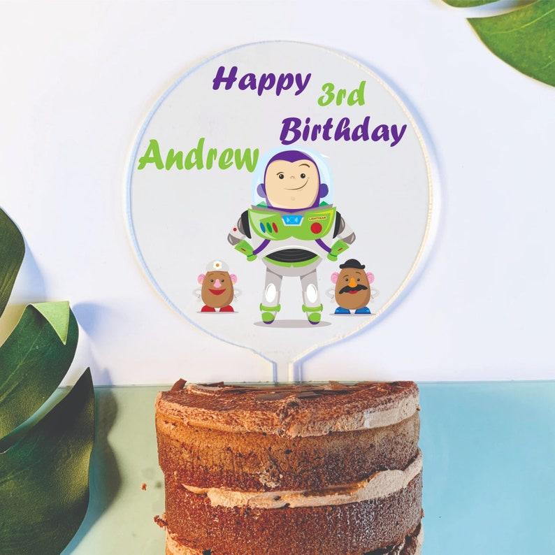 Tremendous Kids Birthday Cake Topper Buzz Toy Story Buzz Lightyear Etsy Birthday Cards Printable Giouspongecafe Filternl