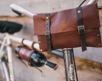 Leather Clutch, Bike Bag, bike accessories, handle bag, leather bag, tool bag, handbag, bicycle bag, small bag, clutch, pouch, bike gifts