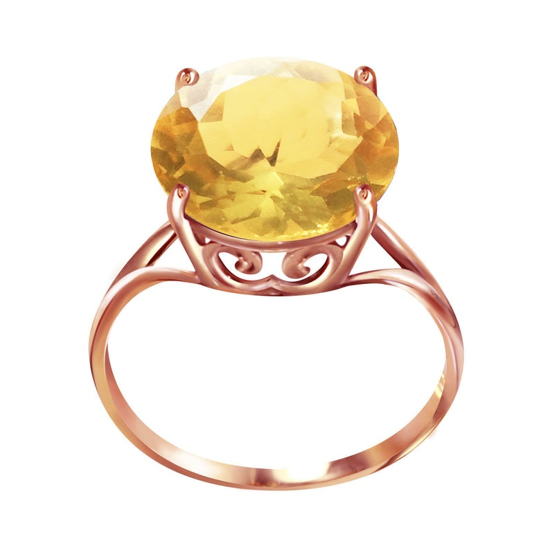 Natural Citrine Ring, Citrine Ring, Citrine Jewelry, Gold Citrine Ring, 14k  Gold Ring, Engagement Ring,Mothers Day Gift, November Birthstone