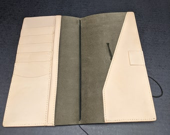Olive Regular Midori Travelers Notebook by Travelers Company Japan, Made in Thailand Stitched Pockets