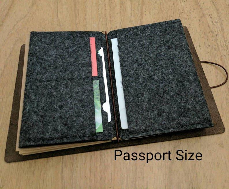 9ccbb09e1825 Felt Fabric File Folder Insert for Traveler's Notebook Passport Size - Card  Holder Envelope - Midori Accessories