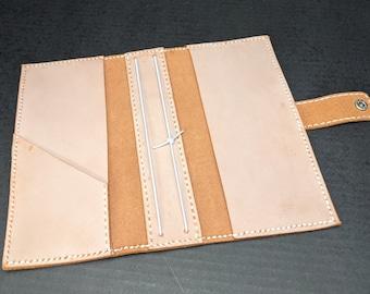 Hobonichi Double Weeks Mega Cover / Travelers Notebook Genuine Waxed Leather Orange Peanch