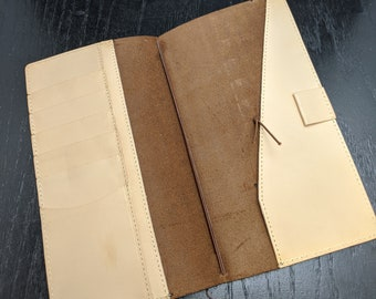 Regular Midori Travelers Notebook by Travelers Company Japan, Made in Thailand Stitched Pockets Brown