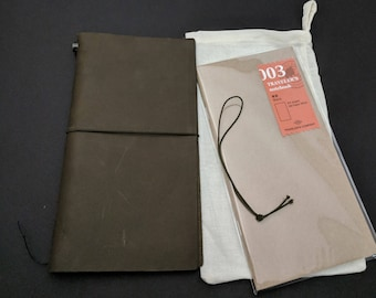 Midori Olive Edition Travelers Notebook by Travelers Company, Japan - Made in Thailand