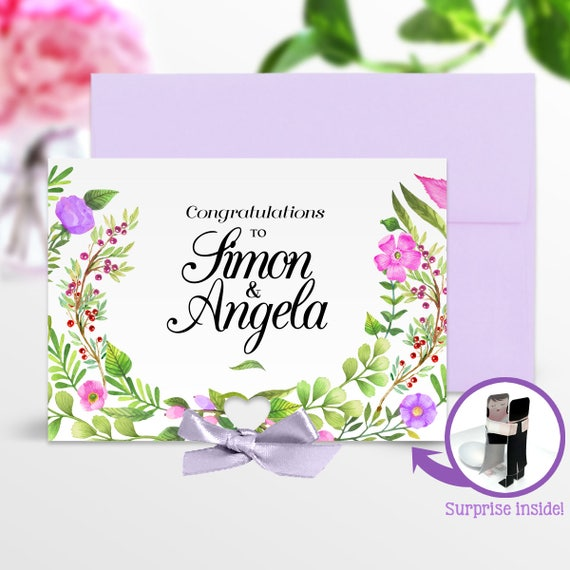 Wedding Congratulations Card Marriage Congratulations Card Etsy