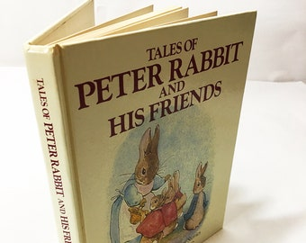 Tales of Peter Rabbit and his Friends. Vintage book from 1984 written by Beatrix Potter. Crown Publisher. Book lover gift. Easter basket