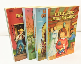 Vintage Little House on the Prairie Book Series circa 1971 by Laura Ingalls Wilder. Children's Classics with  evocative illustrations.