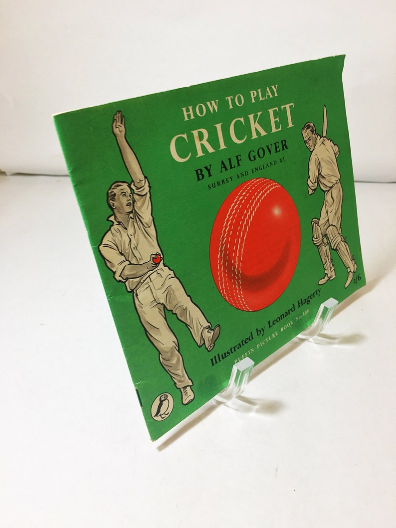 How To Play Cricket By Alf Gover An English Test Cricketer Vintage Book Circa 1957 Puffin Picture Book 109 Ipl Sports Lover Gift
