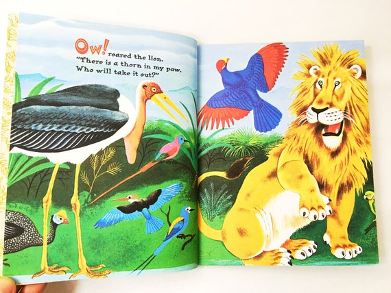 The Lions Paw Little Golden Book Lgb Hardback Etsy