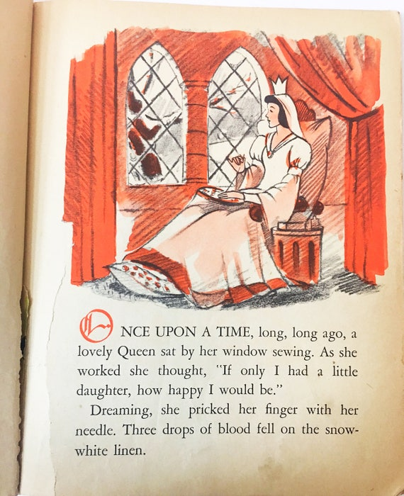 Snow White And The Seven Dwarfs Book Circa 1948 Little Etsy