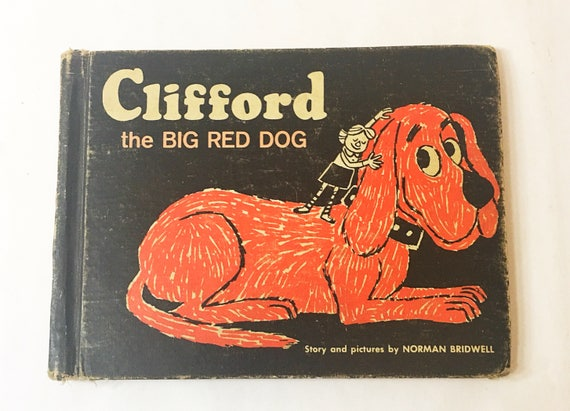 Clifford The Big Red Dog Early Printing Vintage Book By Etsy