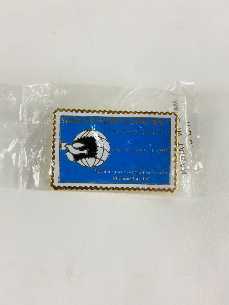 stamp postal lapel Mail Accessory 1980s Olympics Love Post Office /& Mail Carrier Vintage enamel pins