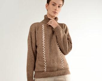 Oversize sweater - turtleneck sweater - cozy sweater - plus size sweater - soft wool sweater - alpaca wool sweater