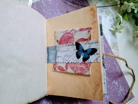 Vintage journal journal vintage fait main main fait A6 rédaction Journal rembourré couverture 00a581