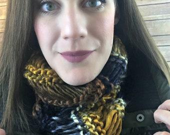 Infinity Scarf - crochet scarf, chunky knit, mobius cowl, knit scarf, knit cowl, infinity cowl, chunky scarf, chunky cowl - Twilight