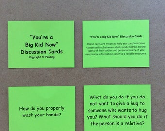 You're a Big Kid Now Discussion Cards