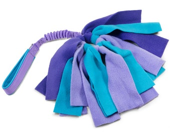 Fleece dog toy with bungee