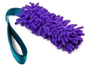 MEDIUM tug dog toy mop