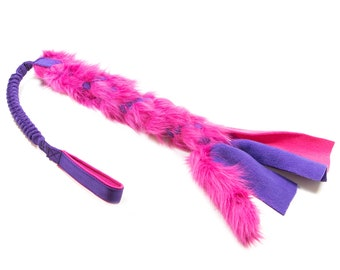 FUR and FLEECE bungee dog toy